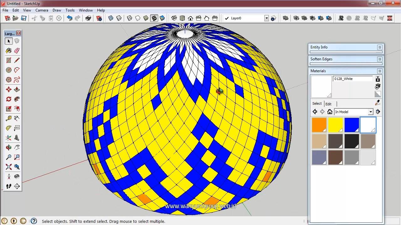 Modeling Kubah Masjid Enamel Menggunakan SketchUp