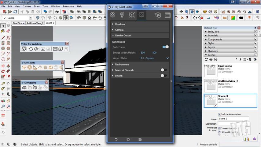 Mengenal Render Output VRay 3.6 untuk SketchUp