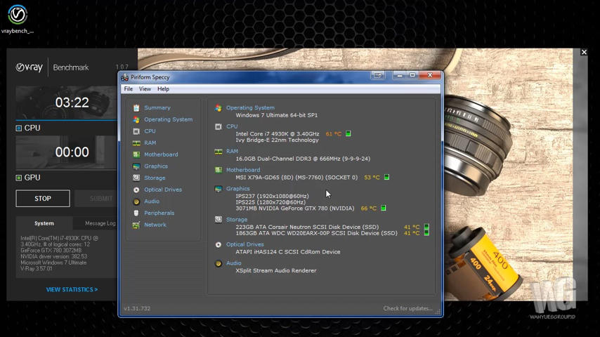 V-RAY BENCHMARK 1.0.7 Melihat Rangking Komputer Jalanin VRAY