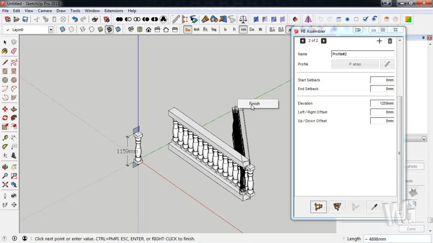 Modeling Profile Pagar Roman Dekoratif Menggunakan SketchUp