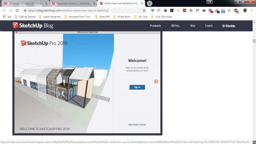 SketchUp 2019 Siap di Download dan Review Update Terbarunya