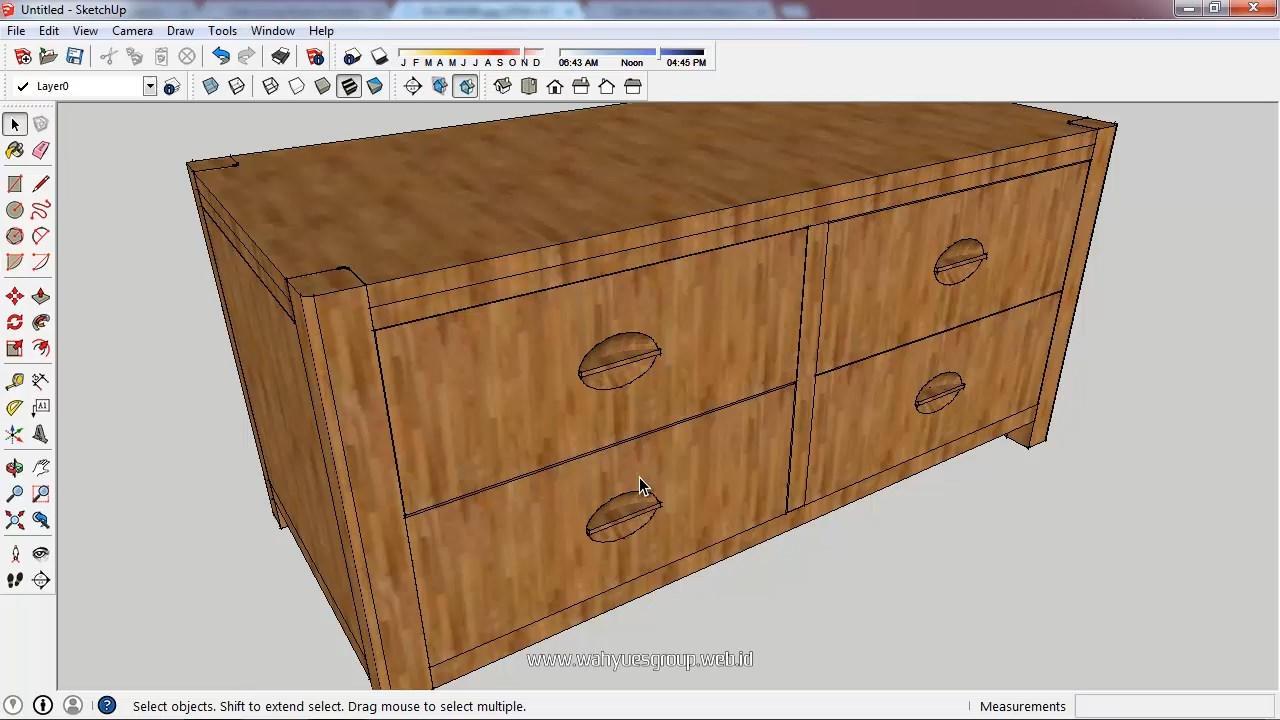 Modeling Kabinet Menggunakan SketchUp Make