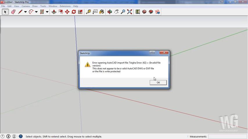 FIX Teigha Error 42 SketchUp Import AutoCAD