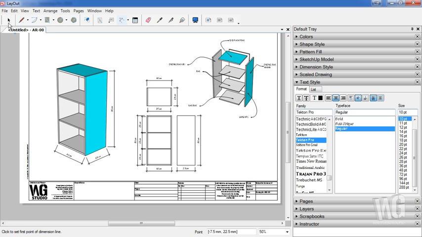 Membuat Detail Konstruksi RAK Buku Menggunakan SketchUp LayOut