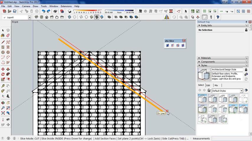 Cara memotong objek di SketchUp