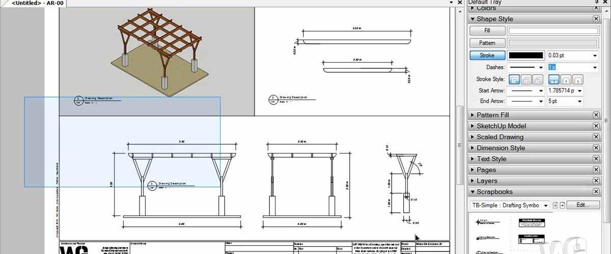 Modeling Kanopi Kayu Garasi Menggunakan SketchUp
