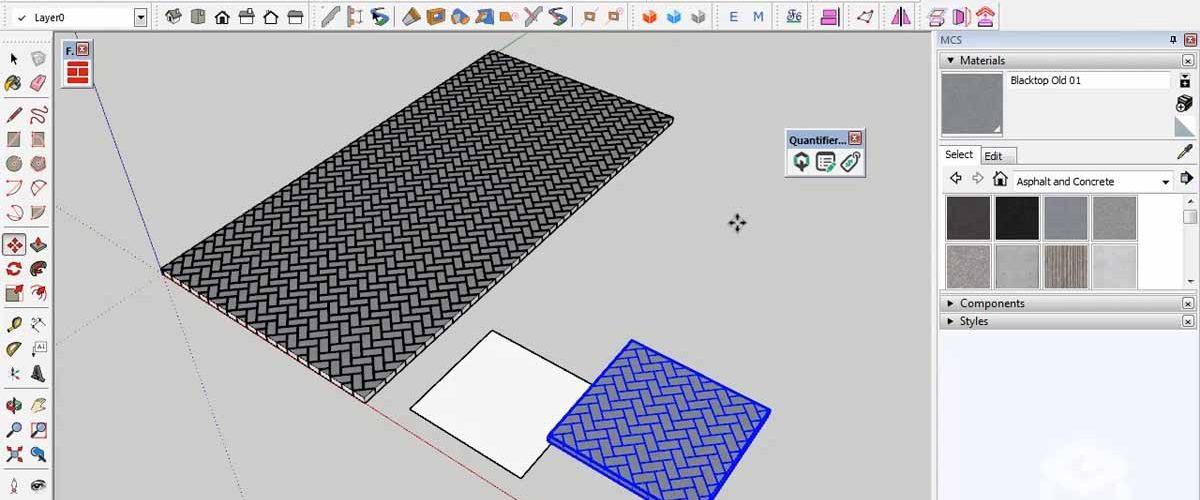 SketchUp Modeling 3D Paving Block