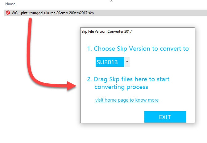 Drag dan Drop File Converter