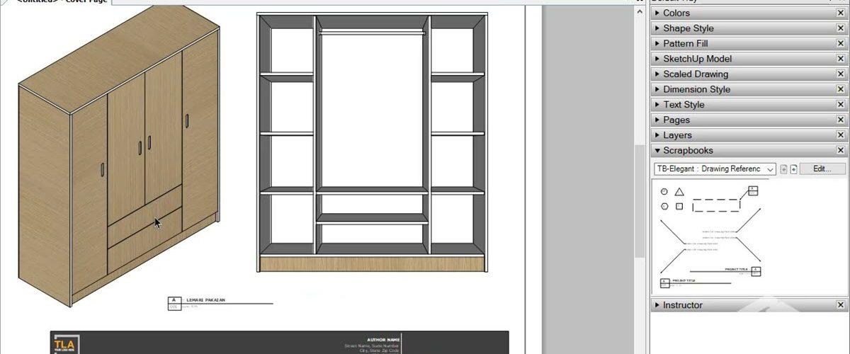 Menggunakan SketchUp untuk Hobi Kayu
