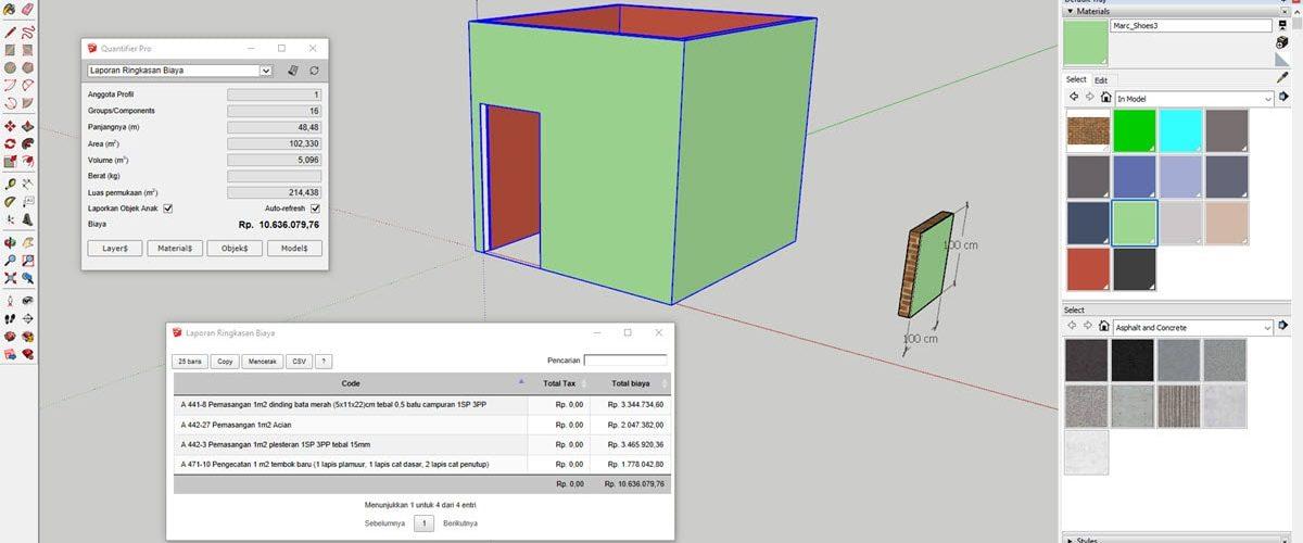 Software RAB di SketchUp