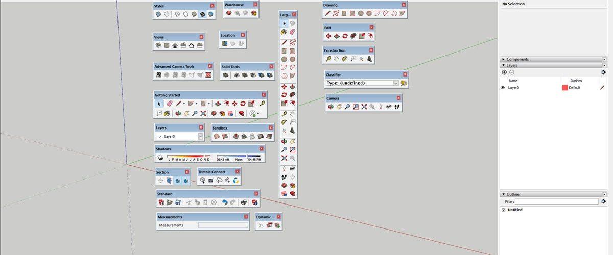 Toolbar SketchUp dan Fungsinya