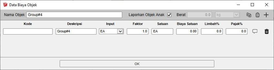 Quantifier Pro Data Biaya Objek