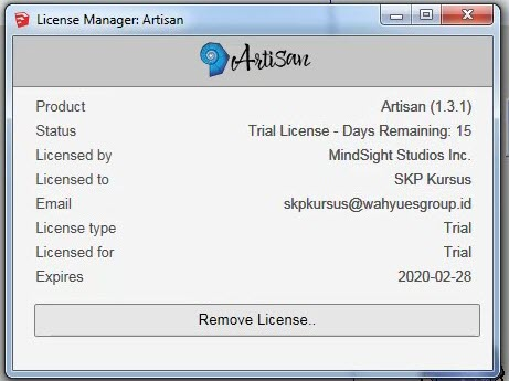 License Manager Artisan Trial