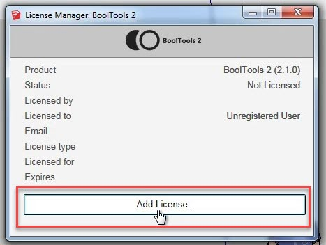 License Manager BoolTools 2