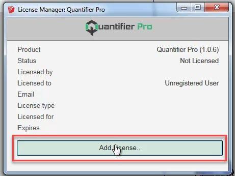 License Manager Quantifier Pro