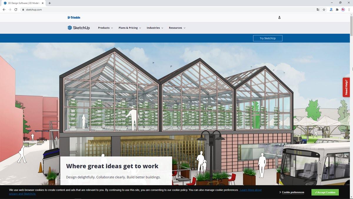 Website SketchUp 2021