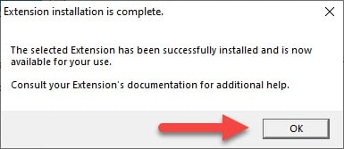 SketchUp 2016 Extension Installation is Complete