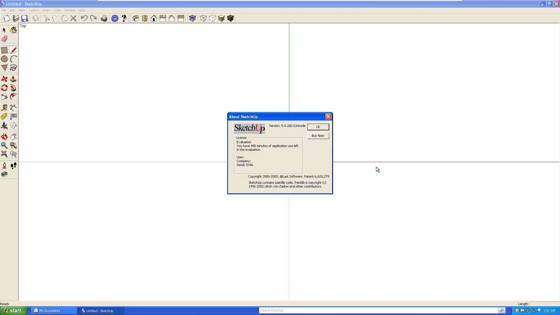 SketchUp 5 About