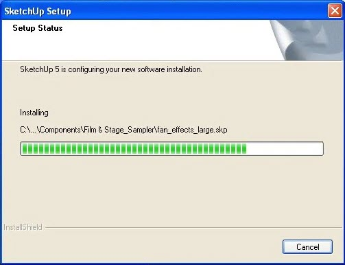 SketchUp 5 Setup Status