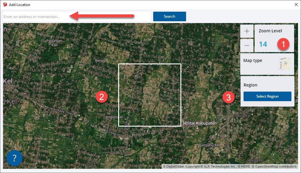 Memilih Peta Lokasi