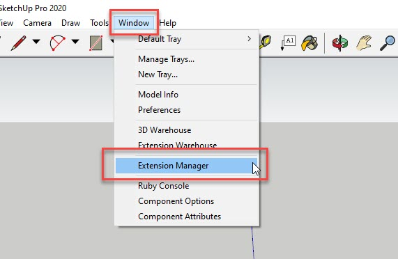 SketchUp Window Extension Manager