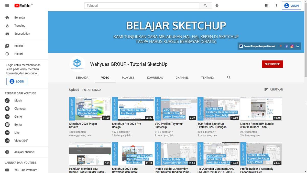 Youtube SketchUp Wahyues GROUP