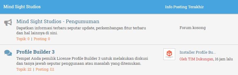 Forum Profile Builder 3
