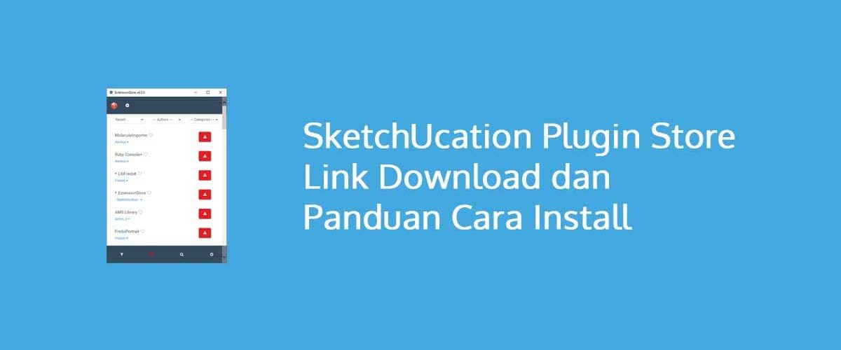 SketchUcation Plugin Store Link Download dan Panduan Cara Install
